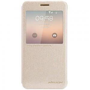 Samsung Galaxy Alpha - etui na telefon - Nillkin Sparkle złote