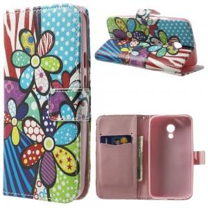 Motorola Moto G2 - etui na telefon i dokumenty - Kwiaty 1