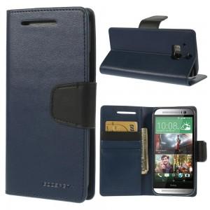 HTC One M8 - etui na telefon i dokumenty - Sonata granatowe