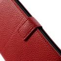 LG G2 Ochronne Portfel Etui – Litchi Czerwony