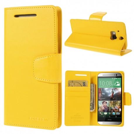 HTC One M8 - etui na telefon i dokumenty - Sonata żółte