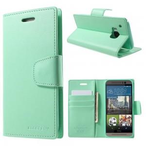HTC One M9 - etui na telefon i dokumenty - Sonata cyjan V
