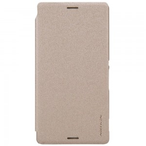 Sony Xperia M4 Aqua - etui na telefon - Nillkin Sparkle złote
