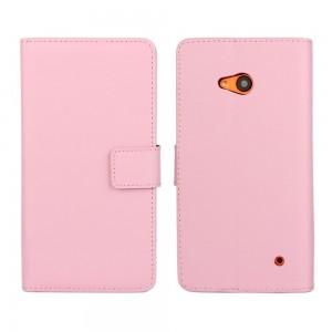 Microsoft Lumia 640 LTE - etui na telefon i dokumenty - różowe