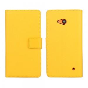 Microsoft Lumia 640 LTE - etui na telefon i dokumenty - żółte