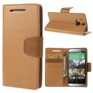 HTC One M8 - etui na telefon i dokumenty - Sonata brązowe