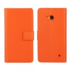 Microsoft Lumia 640 LTE - etui na telefon i dokumenty - pomarańczowe
