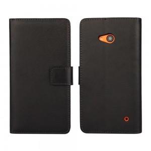 Microsoft Lumia 640 LTE - etui na telefon i dokumenty - czarne