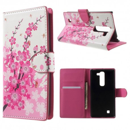 LG G4c H525 - etui na telefon i dokumenty - Kwiaty 2