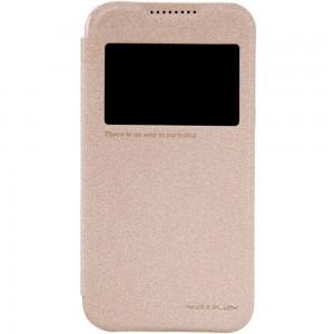 HTC Desire 320 - etui na telefon - Nillkin Sparkle złote