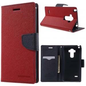 LG G4 Stylus - etui na telefon i dokumenty - Fancy Goospery czerwone