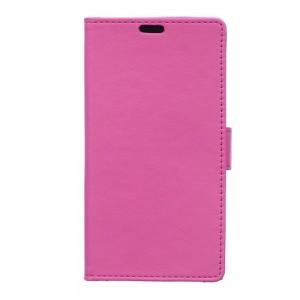 Huawei Y360 - etui na telefon i dokumenty - Litchi różowe