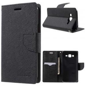 Samsung Galaxy J5 - etui na telefon i dokumenty - Fancy czarne