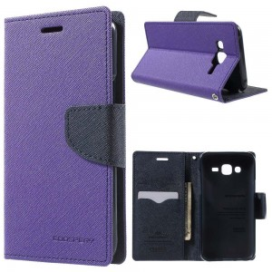 Samsung Galaxy J5 - etui na telefon i dokumenty - Fancy purpurowe V