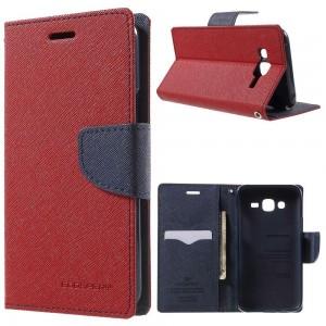 Samsung Galaxy J5 - etui na telefon i dokumenty - Fancy czerwone