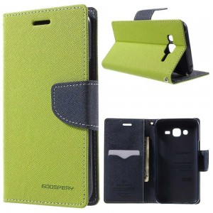 Samsung Galaxy J5 - etui na telefon i dokumenty - Fancy zielone