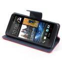 HTC One Mini Portfel Etui – Fancy Ciemny Różowy