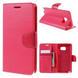 Samsung Galaxy Note 5 - etui na telefon i dokumenty - Sonata różowe
