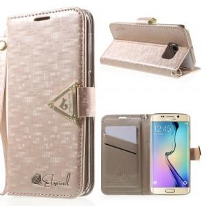 Samsung Galaxy S6 Edge - etui na telefon i dokumenty - Leiers Eternal różowe