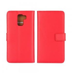 Huawei Honor 7 - etui na telefon i dokumenty - czerwone