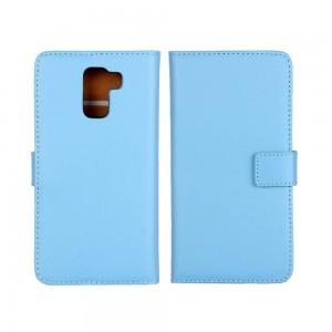 Huawei Honor 7 - etui na telefon i dokumenty - niebieskie
