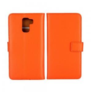 Huawei Honor 7 - etui na telefon i dokumenty - pomarańczowe