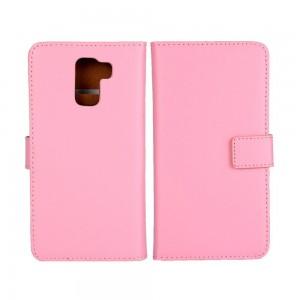 Huawei Honor 7 - etui na telefon i dokumenty - różowe