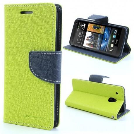 HTC One Mini - etui na telefon i dokumenty - Fancy zielone