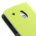 HTC One Mini Portfel Etui – Fancy Zielone