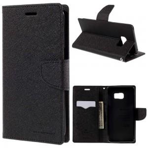 Samsung Galaxy S6 Edge+ 5.7″ - etui na telefon i dokumenty - Fancy czarne
