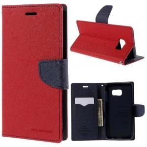 Samsung Galaxy S6 Edge+ 5.7″ - etui na telefon i dokumenty - Fancy czerwone