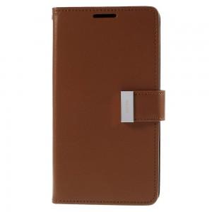 Samsung Galaxy S6 Edge+ 5.7″ - etui na telefon i dokumenty - Rich Diary brązowe