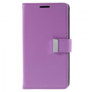 Samsung Galaxy S6 Edge+ 5.7″ - etui na telefon i dokumenty - Rich Diary purpurowe