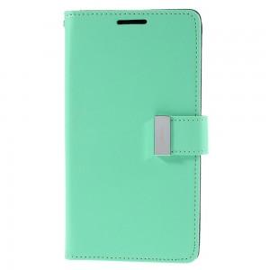 Samsung Galaxy S6 Edge+ 5.7″ - etui na telefon i dokumenty - Rich Diary cyjan