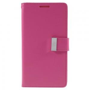 Samsung Galaxy S6 Edge+ 5.7″ - etui na telefon i dokumenty - Rich Diary różowe