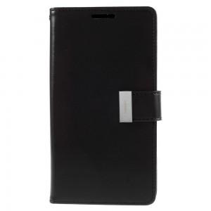 Samsung Galaxy S6 Edge+ 5.7″ - etui na telefon i dokumenty - Rich Diary czarne