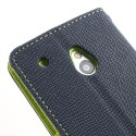 HTC One Mini Portfel Etui – Fancy Niebieski