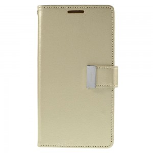 Samsung Galaxy S6 Edge+ 5.7″ - etui na telefon i dokumenty - Rich Diary złote