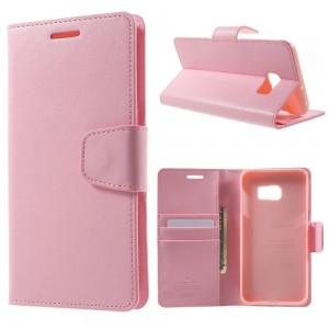 Samsung Galaxy S6 Edge+ 5.7″ - etui na telefon i dokumenty - Sonata różowe