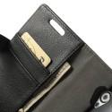 HTC Desire 500 Portfel Etui – Litchi Czarne