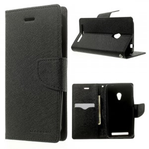 LG G3 - etui na telefon i dokumenty - Fancy czarne (KR)