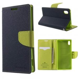 LG G3 - etui na telefon i dokumenty - Fancy niebieskie (KR)