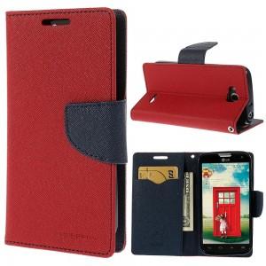 LG G3 - etui na telefon i dokumenty - Fancy czerwone (KR)