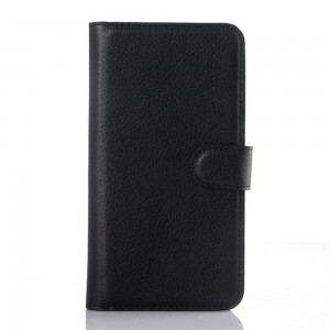 Motorola Moto X Play - etui na telefon i dokumenty - Litchi czarne