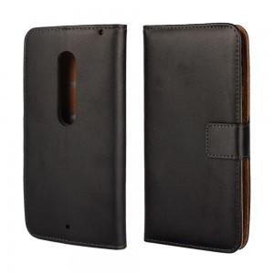 Motorola Moto X Play - etui na telefon i dokumenty - czarne