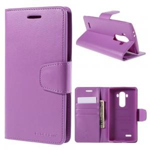 LG G4 H815 - etui na telefon i dokumenty - Sonata Goospery purpurowe