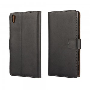 Sony Xperia Z5 - etui na telefon i dokumenty - czarne