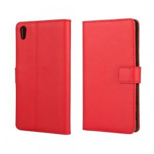Sony Xperia Z5 - etui na telefon i dokumenty - czerwone