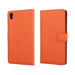 Sony Xperia Z5 - etui na telefon i dokumenty - pomarańczowe