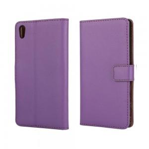 Sony Xperia Z5 - etui na telefon i dokumenty - purpurowe